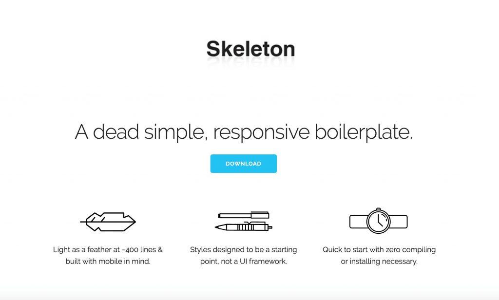 فریم ورک Skeleton