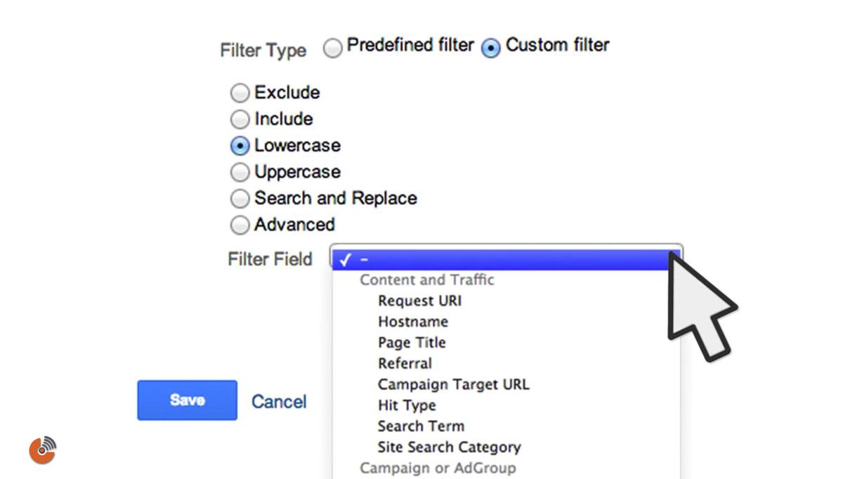 فیلتر سفارشی داده های گوگل آنالیتیک - custom filter - آموزش گوگل آنالیتیک