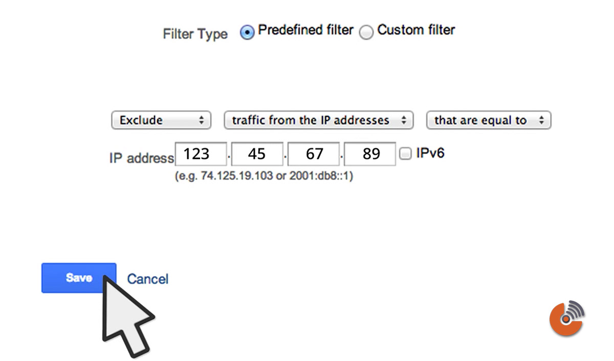 edit permission - traffic from the IP address - آموزش گوگل آنالیتیک