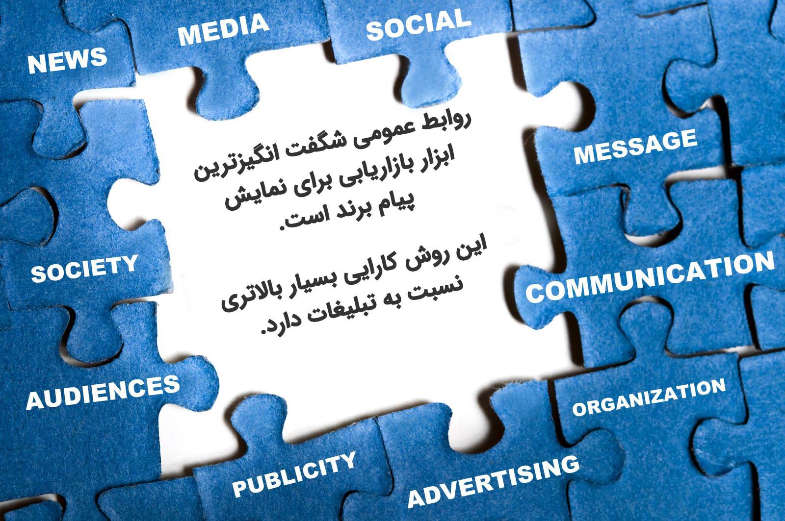نقش روابط عمومی در بازاریابی و تبلیغات