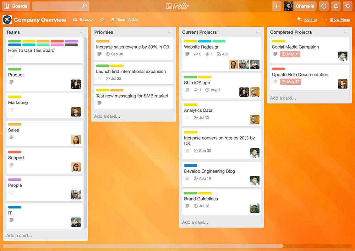 ترلو نرم افزار مدیریت پروژه آنلاین